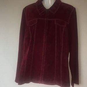 Coldwater Creek Suede Leather Jacket size 20
